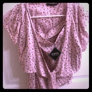 NWT Zaful set top and cover pink sz S-4
